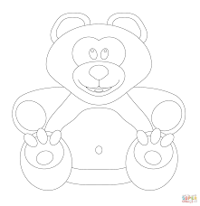 teddy bear coloring free printable coloring pages
