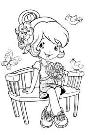 strawberry shortcake cartoon coloring pages coloring pages