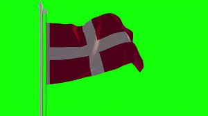 Sweden Flag Image 4k Sweden Flag Is Fluttering On Green Background Isolated Waving