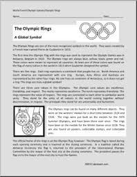 reading comprehension olympic rings history meaning of the