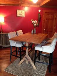 repurposed dining table restoring a vintage drafting table to repurpose as a dining table