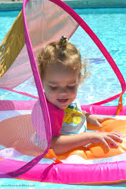 Swimways Baby Spring Float Sun Canopy Blue by Summer Swimming Munchkins And The Military