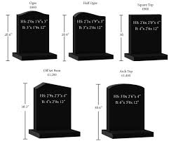 headstone cost standard headstone sizes roughleys