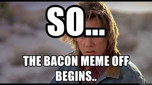 Bacon Meme Generator - so the bacon meme off begins displeased kevin bacon meme