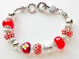 murano beads bracelet images Summer colors ruby red bead bracelet pandora inspired murano glass jpg