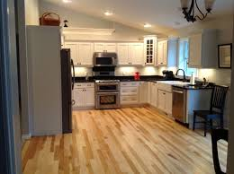 white kitchen hickory floors search wood floors
