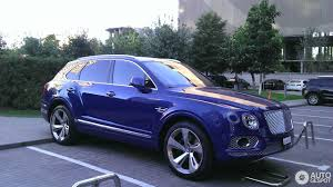 blue bentley 2016 bentley bentayga 15 september 2016 autogespot