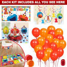 wholesale party supplies check out elmo turns one decoration kit elmo s 1st birthday party