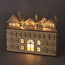 victorian advent calendar house wooden victorian style house