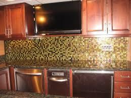 modern glass mosaic tile kitchen ideas backsplash modern yet