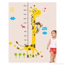 cute giraffe monkey height ruler wall decal stickers removable pvc cute giraffe monkey height ruler wall decal stickers removable pvc growth chart art murals for kids room nursery living