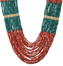 indian beads necklace images Multi strand wooden beaded necklace tibetan handmade jewellery jpeg