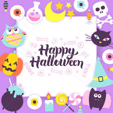 happy halloween paper template vector illustration ganna sereda