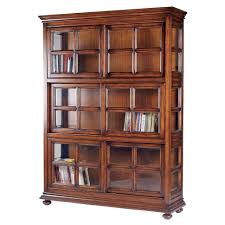 large bookcase with glass doors furniture home high dark brown wooden bookcase with glass doors