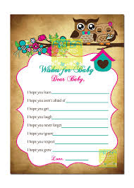 owls baby shower owls baby shower wishes for baby card owls baby