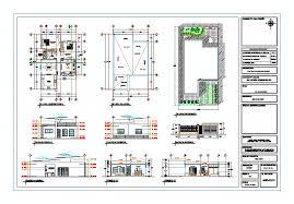 Plano Arquitectonico Casa Habitacion 2 Niveles Autocad