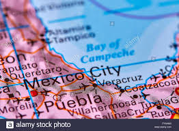 Mexico On A Map by Mexico City Capital Of Mexico On The World Map Stock Photo