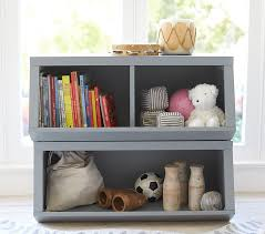 Room Dividers For Kids - double market bin with divider pottery barn kids