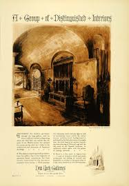 1927 ad home decor interior new york galleries design room