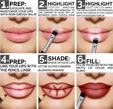 amazon com aesthetica matte lip contour kit contouring and