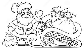 coloring pages of presents how to draw santa claus christmas gifts illustration youtube