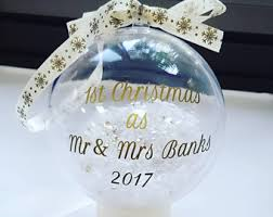 Baby S First Christmas Bauble Glass by Personalised Christmas Bauble Etsy Uk