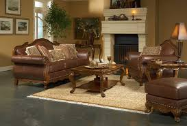 classic minimalist living room decorating ideas with brown leather