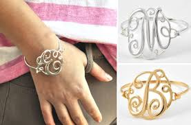 classic monogram initial bracelets for 8 99
