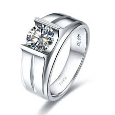 men rings prices images 1 ct pure gold 585 round shape shiny charles colvard moissanite jpg