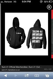 band sweaters sum 41 hoodie things i want need band merch