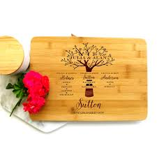 personalised cutting board personalised chopping board detailed family tree