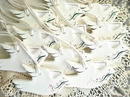dove baptism favors set of 6 salt dough wedding favors baptism