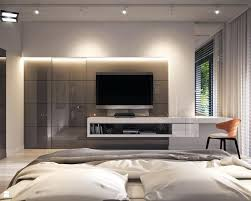 Bedroom Tv Unit Design Bedroom Tv Units Modern Bedroom In Apartment Gray