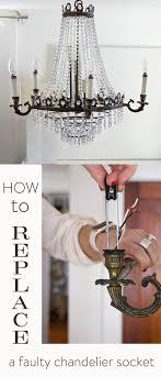 Chandelier Socket Easy Chandelier Socket Repair How To Replace The Socket