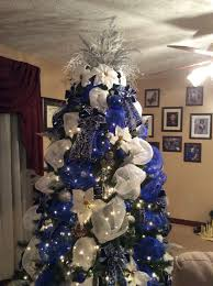 Blue White And Silver Christmas Tree - blue white and silver deco mesh christmas tree i am a dallas