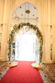 wedding arch entrance real weddings raymond abigail holy matrimony dinner