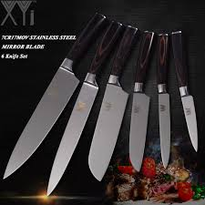 high carbon stainless steel kitchen knives xyj 7cr17 high carbon stainless steel kitchen knife sets
