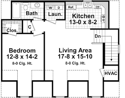 the house designers house plans circle 4205 1 bedroom and 1 5 baths the house designers