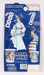 dixie cups frontier toys wars dixie cups box princess leia misc