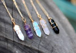 crystal necklace stone images Wire wrap crystal necklace crystal necklace healing jpg