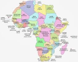 mapa de africa atlas capitales paises africa mapa