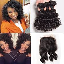 short hairstyles with closures amazon com brazilian curly human hair short hair bundles with lace