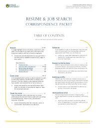 resume u0026 job search correspondence packet