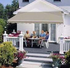 Vista Awnings Amazon Com 15ft Sunsetter Black Stripe Vista Awning Patio