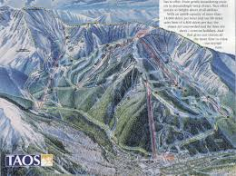 Map Of Taos New Mexico by Taos Ski Valley Skimap Org