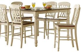 High Dining Room Sets by Homelegance Ohana 6 Piece Counter Height Dining Room Set In White