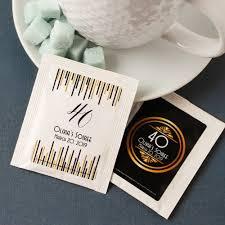 personalized tea bags tea bag party favors beau coup
