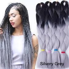 grey kinky twist hair 24 100g silver ombre braiding hair kinky twist hair two tone 100g