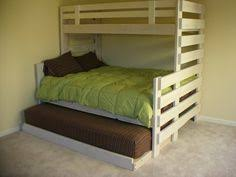 Twin Over Queen Bunk Bed For Cottage Home Ideas Pinterest - Twin over queen bunk bed