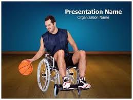 disabled sports powerpoint template background